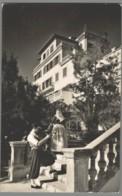 CPSM Espagne - Mallorca Palma - Paseo Maritimo - Pareja Tipica Frente Al Hotel Miramar - Palma De Mallorca