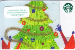 FRANCE - Christmas, Starbucks Card, CN : 6156, Unused - Cartes Cadeaux