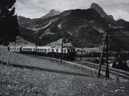 Très Belle Photo Ancienne Train Gare Locomotive ! - Trains