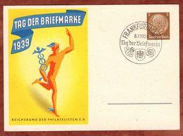 PP 239 Hindenburg Tag Der Briefmarke, SoSt Frankfurt, 1939 (70809) - Deutschland