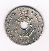 10 CENTIMES 1905 VL  BELGIE /2242/ - 1865-1909: Leopold II