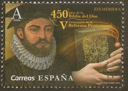 2019 SPAIN ESPAGNE ESPAÑA 1v 450 Years Of The First Bible In Spanish (Biblia Del Oso). Theologian Casiodoro De Reina MNH - 1931-Today: 2nd Rep - ... Juan Carlos I