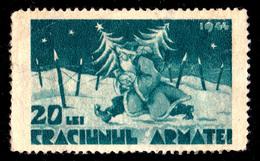 ROUMANIE / ROMANIA - CINDERELLA / TIMBRE FISCAL : 20 LEI - CRACIUNUL ARMATEI - 1944 / PÈRE NOËL / ARMY'S SANTA (t-051) - Christmas