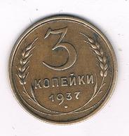 3 KOPEK  1937 CCCP  RUSLAND /2254/ - Russland