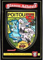 CARTE -AUTOCOLLANT-ECUSSON ADHESIF-VINYL-POITOU-Edit Vacances 22-TBE - Autocollants