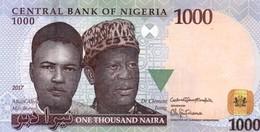 "NIGERIA 1000 Naira 2017 UNC P-36 ""free Shipping Via Regular Air Mail (buyer Risk)"" - Nigeria"
