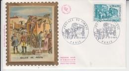 FRANCE 1973 JOURNEE DU TIMBRE RELAIS DE POSTE FDC - Post