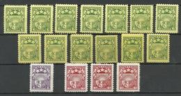 LETTLAND Latvia 1927/29 Lot Coat Of Arms Wappen Michel 118 - 119 & 149 MH/MNH - Lettland