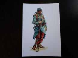 """Affiche : Soldat D'infanterie """" Poilu """" 1914  & - 1914-18"""