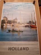 OUDE AFFICHE 1950-1965, HOLLANDE, HOLLAND, NEDERLAND, MUIDERSLOT, 63x97cm - Affiches