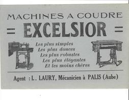 BUVARD  MACHINES A COUDRE  EXCELSIOR  L LAURY A  PALIS  AUBE    *****    A   SAISIR **** - Papel Secante