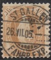 Schweiz, 26.7.1905, St. Gallen, 72D, Stehende Helvetia, Vollstempel, Siehe Scan! - Used Stamps