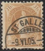 Schweiz, 9.6.1905, St. Gallen, 72D, Stehende Helvetia, Siehe Scan! - Used Stamps