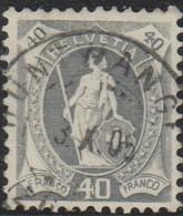 Schweiz, 3.5.1905, Hüntwangen, 76F, Stehende Helvetia, Vollstempel, Siehe Scan! - 1882-1906 Coat Of Arms, Standing Helvetia & UPU