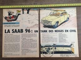 PUBLICITE AUTO SAAB 96 JIDEHEM - Collections
