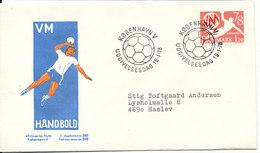 Denmark FDC 19-1-1978 WORLD Championship Handball With Cachet - Balonmano