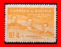 BOLIVIA ( AMERICA DEL SUR ) SELLO 1953 THE 1ST ANNIVERSARY OF THE REVOLUTION - Bolivia