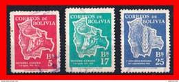BOLIVIA ( AMERICA DEL SUR ) 3 SELLOS 1954 THE 1ST ANNIVERSARY OF THE AGRARIAN REFORM - Bolivia