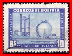 BOLIVIA ( AMERICA DEL SUR ) SELLO 1955 DEVELOPMENT OF PETROLEUM INDUSTRY - Bolivia