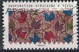 France 2019 Oblitéré Used Tissus Motifs Nature Inspiration Africaine Timbre 02 - France