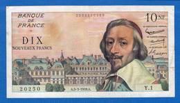 10  Nf  Du 5/3/1959  Y1 - 1959-1966 Nouveaux Francs