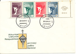 Lithuania FDC 22-12-1990 With Some Rust Stains - Lithuania