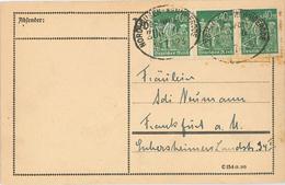 Bahnpost Nordhausen - Wernigerode Nach FFM - Lettres & Documents