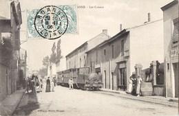 BELLE CPA : ROANNE LES CANAUX LOCOMOTIVE CHEMIN DE FER DE LA COTE TRAIN TRAMWAY 42 LOIRE - Roanne