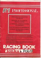 F.1 PROFESSIONAL RACING BOOK TONKA POLISTIL ISTRUZIONI 54 PAGINE - Circuiti Automobilistici