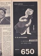 (pagine-pages)PUBBLICITA' PIRELLI  Epoca1957/369. - Libri, Riviste, Fumetti