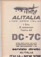 (pagine-pages)PUBBLICITA' ALITALIA  Epoca1957/369. - Libri, Riviste, Fumetti