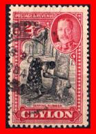 CEYLON ( SRI LANKA - ASIA DEL SUR )  SELLO 1935 -1936 MOTIVOS NACIONALES. - Sri Lanka (Ceilán) (1948-...)