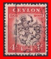 CEYLON ( SRI LANKA - ASIA DEL SUR )  SELLO 1950 MOTIVOS NACIONALES. - Sri Lanka (Ceilán) (1948-...)