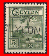 CEYLON ( SRI LANKA - ASIA DEL SUR )  SELLO 1950 MOTIVOS NACIONALES. - Sri Lanka (Ceylan) (1948-...)