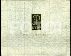 RARE 20s AMERICAN VINTAGE CAR DU PONT DUPONT CARS VOITURE BROCHURE CATALOG CATALOGUE PROSPEKT  WILMINGTON DELAWARE USA - Voitures