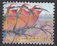 Zambia 2003 Sc. 1027 Uccelli Birds : Gruccione Viaggiato Used - Moineaux