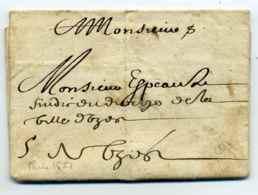 Lettre De PARIS  De 1651 / Dept De La Seine / Côte 420€ - Marcophilie (Lettres)