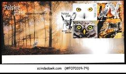 POLAND - 2017 POLISH OWLS / BIRDS - 4V - FDC - Ohne Zuordnung