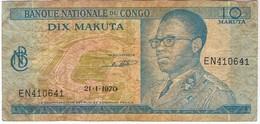 CONGO - DIX  MAKULA - 1970 - Congo