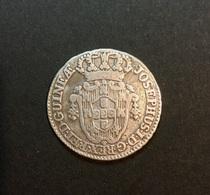 4 MACUTAS Angola Macuta Africa Portugueza JOSEPHUS.I.D.G.REX.P.ET.D.GUINEA. Old SILVER Coin Colonial Coinage 1763 - Angola