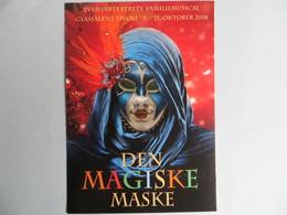 CPM Den Magiske Maske - Masque Ventien Go Card 2018 TIVOLI - Musées
