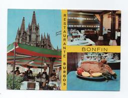 Postcard 1960s BURGOS Advert Restaurant SPAIN ESPANA ESPAÑA ESPAGNE - Burgos