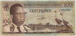 CONGO - 100 FRANCS - 1961 - Congo
