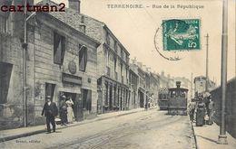 TERRENOIRE RUE DE LA REPUBLIQUE TRAMWAY 42 LOIRE - France