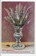 White Heather With Bee - Tuck OIlette 9616 - Flowers