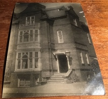 Three Storey House ~ Black & White Photo Postcard - Unclassified