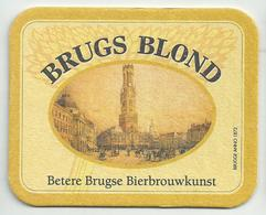 Bierviltje - BRUGS BLOND - Betere Brugse Bierbrouwkunst - Sous-bocks