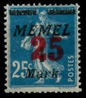 MEMEL 1923 Nr 122 Ungebraucht X6D0E4A - Memel (Klaïpeda)