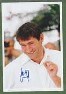 SERGI LOPEZ  AUTOGRAPHE / AUTOGRAMM  In Person Signed Glossy Photo 13/18 Cm * César * - Autographes