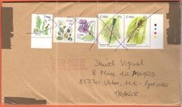 IRLANDA - IRELAND - Irlande - EIRE - 2016 - 2c + 48c + 55c (Fiori, Fleurs, Flowers) + 2 X 55c (Libellula, Dragonfly, Lib - Storia Postale